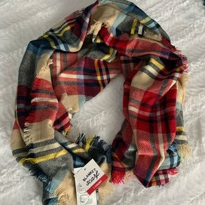 BNWT or worn once! Bundle of 3 plaid scarves!